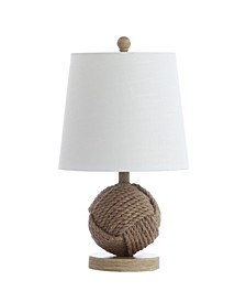 "Monkey Fist 18"" Rope Ball LED Table Lamp"
