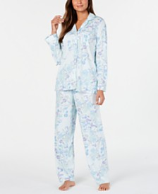 Miss Elaine Women's Knit Floral-Print Pajamas Set
