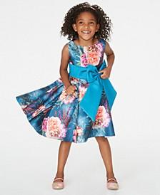 Little Girls Floral-Print High-Low Dress