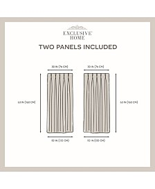 """Exclusive Home Sateen Twill Woven Blackout Pinch Pleat Window 30"""" X 63"""" Curtain Panel Pair"""