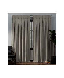 "Ghent Metro Suede Inverted Pleat Button Top 32"" X 96"" Curtain Panel Pair"