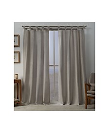"Exclusive Home Loha Linen Braided Tab Top 54"" X 96"" Curtain Panel Pair"