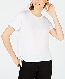 Juniors' Ruched T-Shirt