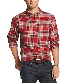 Men's Fireside Classic-Fit Plaid Flannel Shirt