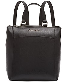 Calvin Klein Hayden Signature Leather Backpack