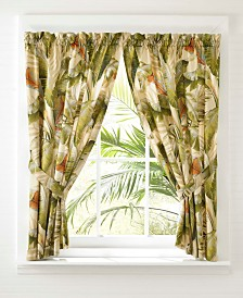 Tommy Bahama Palmiers Green Pole Top Drapes