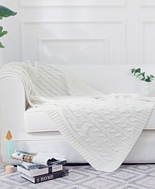 Cheer Collection Knitted Throw Blanket