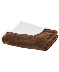 "Microsherpa Microplush 86"" x 86"" Reversible Throw Blanket"