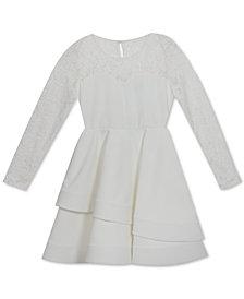 Rare Editions Big Girls Lace Illusion Dress