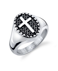 Round Cross Ring in Stainless Steel