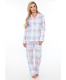 White Mark Flannel Pajama Set