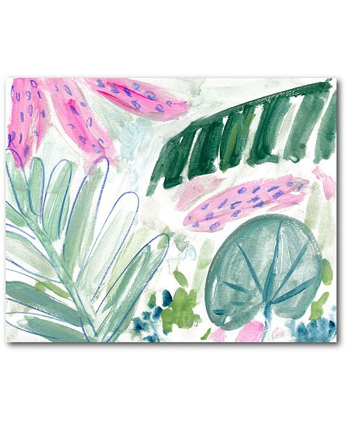 """Courtside Market Plam Leaf II 16"""" x 20"""" Gallery-Wrapped Canvas Wall Art"""