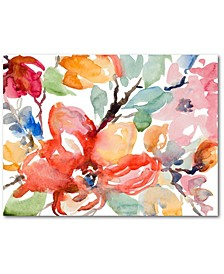 Watercolor Flowers Gallery-Wrapped Canvas Wall Art Collection