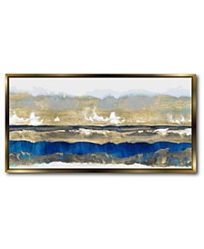 Strata in Canvas Wall Art with Float Moulding Collection