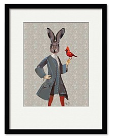 Rabbit and Bird Framed and Matted Art Collection