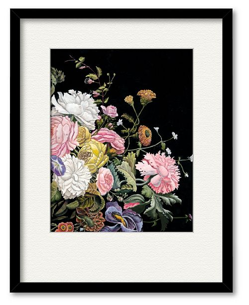 """Courtside Market Rose Romance III 16"""" x 16"""" Framed and Matted Art"""