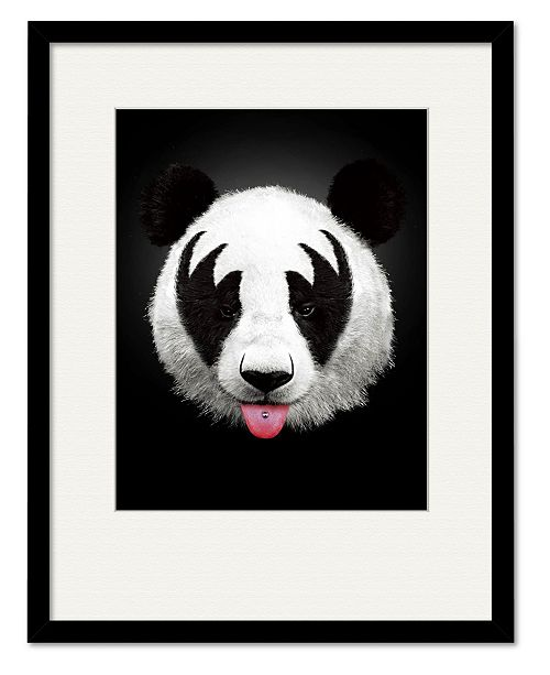 "Courtside Market Panda Rocks 16"" x 20"" Framed and Matted Art"