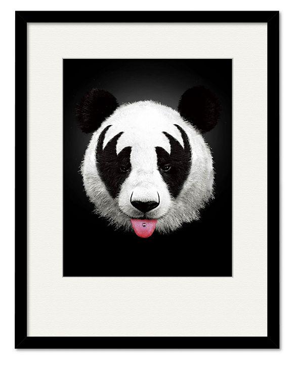 "Courtside Market Panda Rocks 16"" x 20"" Framed and Matted Art"