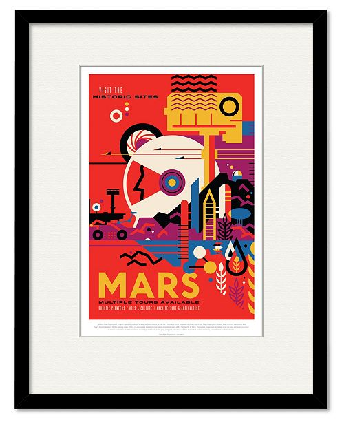 "Courtside Market Mars 16"" x 20"" Framed and Matted Art"