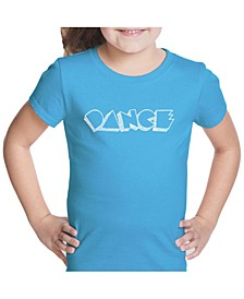 Girl's Word Art T-Shirt - Different Styles of Dance