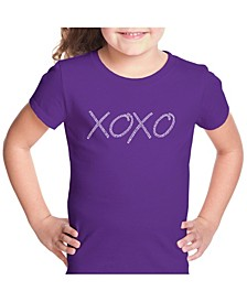 Girl's Word Art T-Shirt - Xoxo