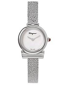 Women's Swiss Gancino Stainless Steel Bracelet Watch 22mm