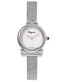 Ferragamo Women's Swiss Gancino Stainless Steel Bracelet Watch 22mm