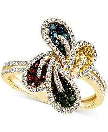 Le Vian Mixberry Diamonds® Statement Ring (3/4 ct. t.w.) in 14k Gold