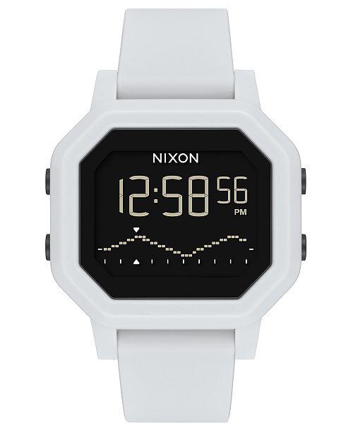 Nixon Unisex Digital Siren Silicone Strap Watch 38mm