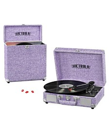 Victrola Record Player Bundle Includes a 3-Speed Turntable, Record Storage Case and Replacement Needles