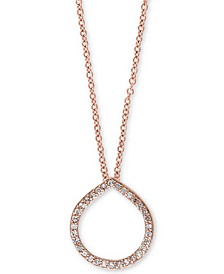 EFFY® Diamond Circle Pendant (1/6 ct. t.w.) in 14k Rose Gold