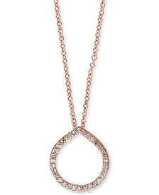 EFFY® Diamond Circle Pendant (1/6 ct. t.w.) in 14k Rose Gold