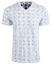 Men's V-Neck Geometric T-Shirt, Created for Macy's