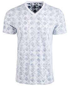 American Rag Men's V-Neck Geometric T-Shirt, Created for Macy's