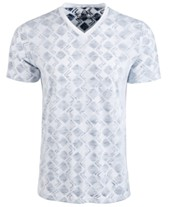 04091f115008 American Rag Men's V-Neck Geometric T-Shirt, Created for Macy's