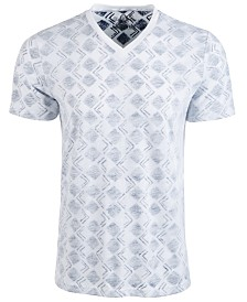 American Rag Men's V-Neck Geometric T-Shirt, Created for Macy's