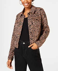 Celebrity Pink Juniors' Printed Jean Jacket