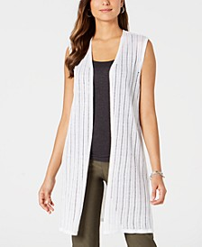Open-Front Pointelle Vest, Created for Macy's