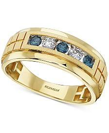 EFFY® Men's Diamond Ring (1/2 ct. t.w.) in 14k Gold