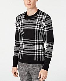 Men's Slim-Fit Plaid Sweater