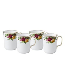 Royal Albert Old Country Roses Bristol Mug Set of 4, Created for Macy's