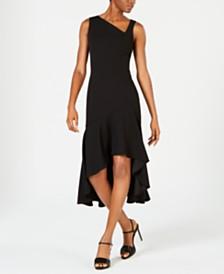 Calvin Klein Asymmetrical High-Low Midi Dress