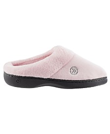 Isotoner Women's Mixed Microterry Hoodback Slippers, Online Only