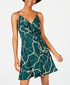 Juniors' Status Faux-Wrap Dress