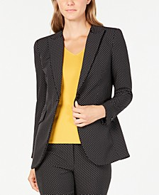 Micro-Dot Piping-Trim Blazer