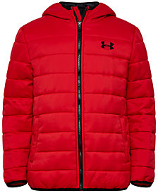 Under Armour Big Boys Pronto Puffer Hooded Jacket