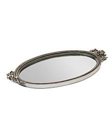 Antique Rose Mirror Tray