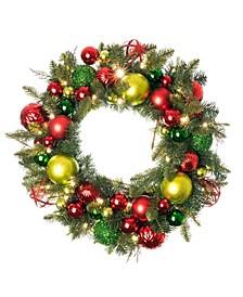 "30"" Pre-Lit LED Wreath - Festive Holiday"