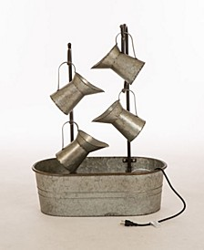 Farmhouse Galvanized Metal Pitchers Fountain