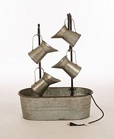 Glitzhome Farmhouse Galvanized Metal Pitchers Fountain